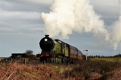 The morning train from Sheringham approaching Weybourne.