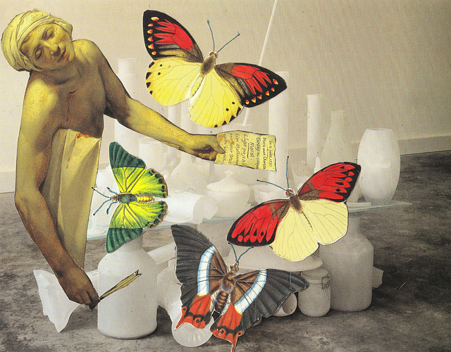 marat dying with butterflies