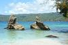 Dominican Republic, The Reefs on the Beach of Cayo Levantado on Bacardi Island