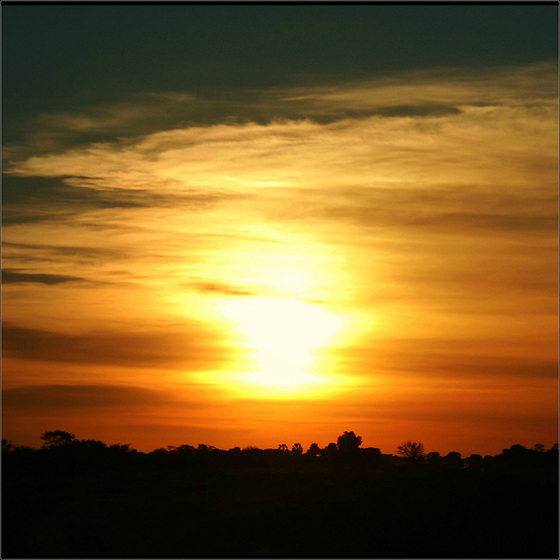 ........and now the shining light of sun...