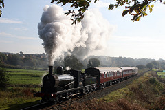 Aspinall  L &Y class 27 LMS 3F 0-6-0 52322 with 2E33 12.10 Bury - Ramsbottom at Burrs Country Park 19th October 2018. (ELR)