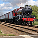 Stanier LMS -BR class 6P Jubilee 4-6-0 45699 GALATEA with 1Z27 17.13 Scarborough - Carnforth The Scarborough Spa Express at East Heslerton Crossing 20th June 2019.(steam as far as York)