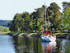Northbound for Fort Augustus on the Caledonian Canal