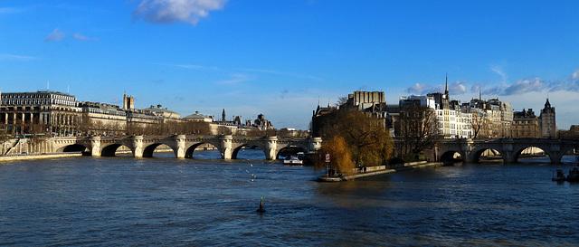 Le Pont Neuf et l'Île de la Cité , un jour de février 2015