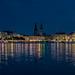 Hamburg, Blue Hour - Inner Alster Basin - Binnenalster (195°)