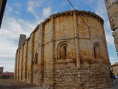 Abside de la iglesia de Nuestra Señora del Templo, en Villalba de los Alcores.