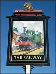 The Railway pub sign