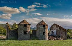 Silos and ruins....