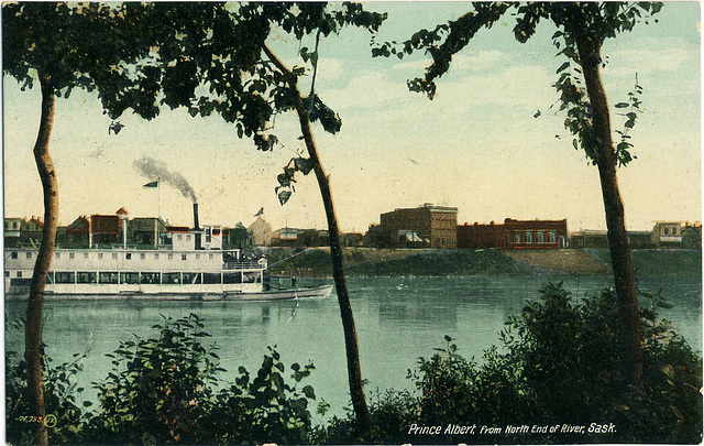 6693. Prince Albert, from North End of River, Sask.. [104,333??]