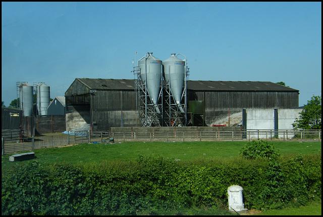 barn and milestone