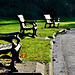 Sunny benches