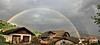 Regenbogen über Meransen/Südtirol