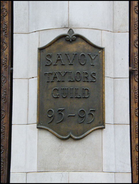 Savoy Taylors Guild sign