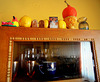 Yellow quinces on the cabinet