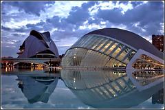 Valencia : Capolavori  di Calatrava al crepuscolo