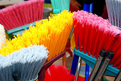 """"""". . .sweeps with many colored brooms, and leaves the shreds behind. . ."""""""