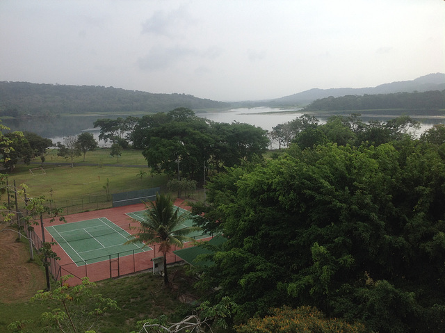 View up the Rio Chagres from Balcony