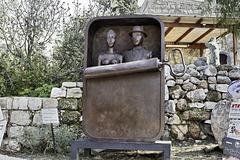 """A Couple in a Sardine Can"" – Artists' Village, Ein Hod, Haifa District, Israel"