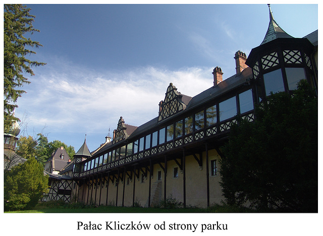 Pałac Kliczków od strony parku - Palace Kilczków in the side of the park
