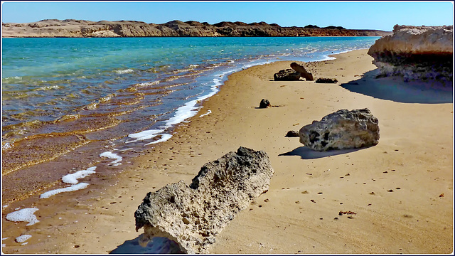 Sharm el Sheikh : Ras Mohammed - ' The enchanted lake' in bassa marea