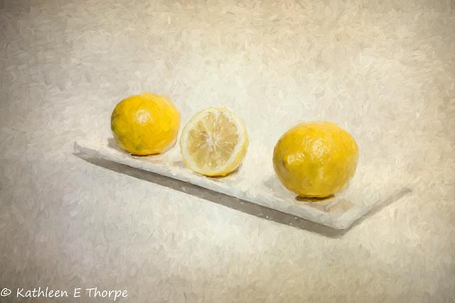 Lemon Still Life Oil Painting 062216-001