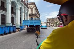 riding the Coco Taxi
