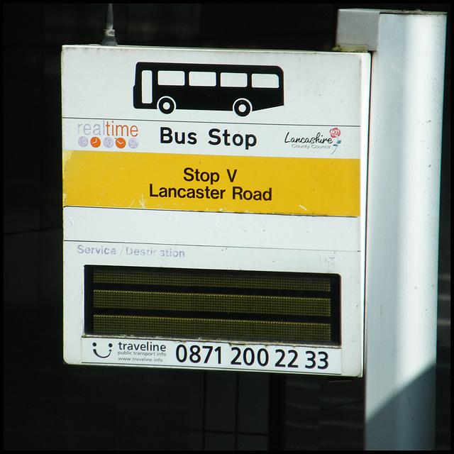 Preston realtime bus stop