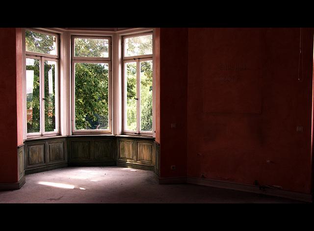 das rote Zimmer ...