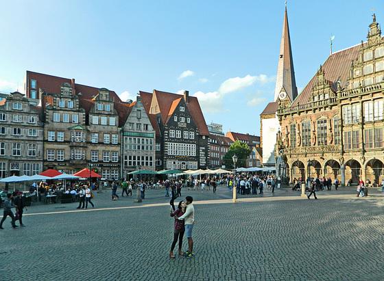 Marktplatz / Центральная площадь старого Бремена