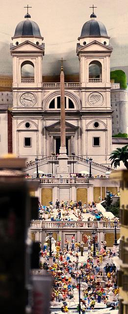 Rom: St. Trinita dei Monti mit Spanischer Treppe