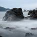Long exposure sea at Cap Negret