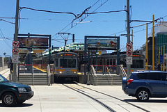 Downtown Santa Monica stop on the Expo Line