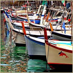 Le prue delle barche da pesca - (587)