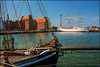Ernestine und Gorch Fock im alter Hafen in Stralsund