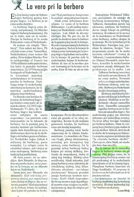 pri berbera popolo - tamaziĥta lingvo