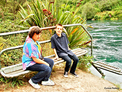 My Daughter And Grandson At Taupo