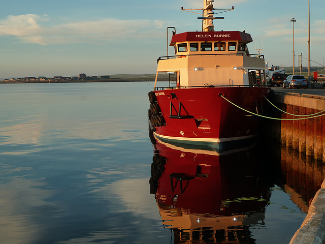 Kirkwall harbour in Orkney