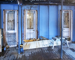 Three Doors on the TS 'Queen Mary'