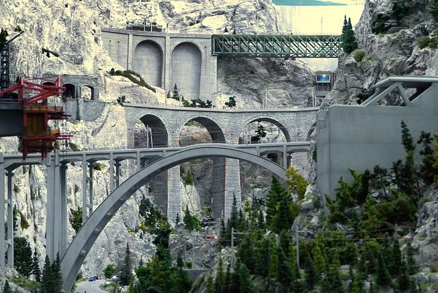 Schweiz: Langwieser Viadukt (PiP)