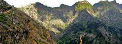 The volcanic mountains of Madeira.