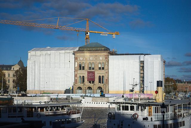 Die Schiffe gegenüber dem Nationalmuseum