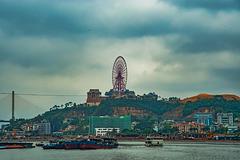 Ferris wheel over Halong bay