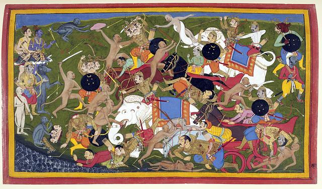 Bataille entre Rama et Lanka