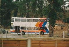 United Counties K711 ASC at Fiveways Garage, Barton Mills - 22 Jan 1995