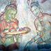 Die Weltbekannten, und einzigartigen Fresken am Löwenfelsen von Sigiriya