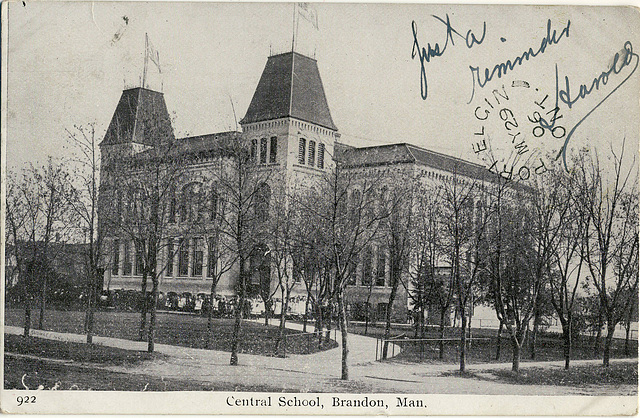 6222. Central School, Brandon, Man.