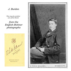 J Burdon - maybe the Rector's son - from English Bicknor photographs