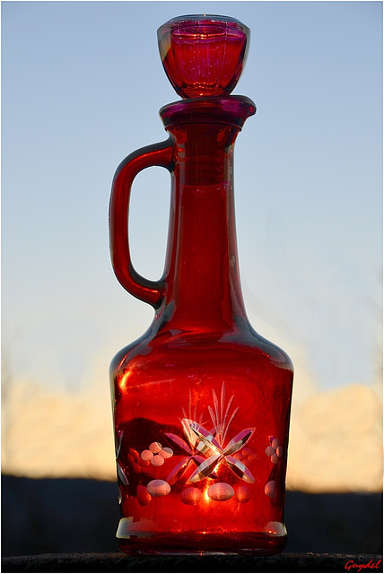 Red Jug at Sunset