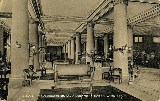 6223. Rotunda of Royal Alexandra Hotel, Winnipeg.