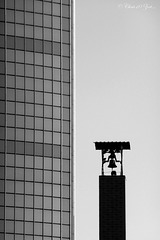 Beurs-World Trade Center and Belfry close together: Rotterdam...
